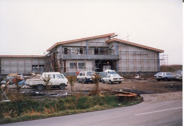 1984年園舎建設の様子
